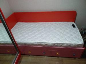 Детская на заказ шкаф кровать красная розовая