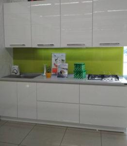 Кухня demo-1901-4 белая салатовая