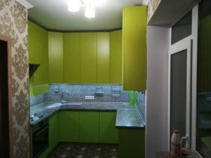 Кухня салатово-лимонная