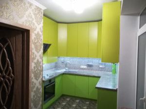 Кухня салатово-лимонная Кухни на заказ Отзывы