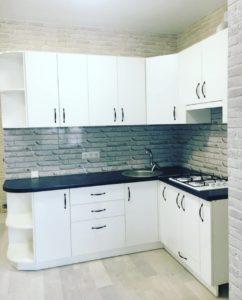 Кухня на заказ 0419-1 белая